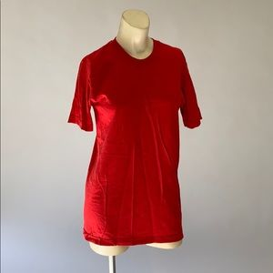 American apparel red shirt size S